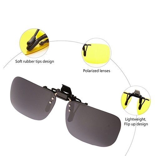 Polarized Sunglasses Clip (eucalyptus)